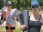REALLY sweating it out! Kaley Cuoco was seen at two yoga classes in Los Angeles on Monday