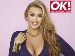 Taking the plunge: Lauren Goodger has revealed she is hoping to appear in Playboy magazine, and that she is hoping to find love during her stint in the Celebrity Big Brother house