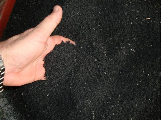 crumb rubber from granulation line