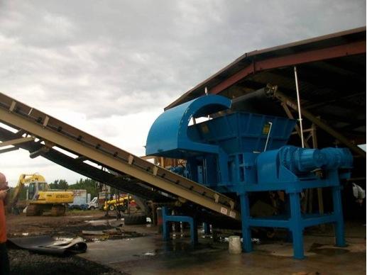 industrial tire shredder, the 7272