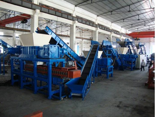 four industrial shredders for massive production