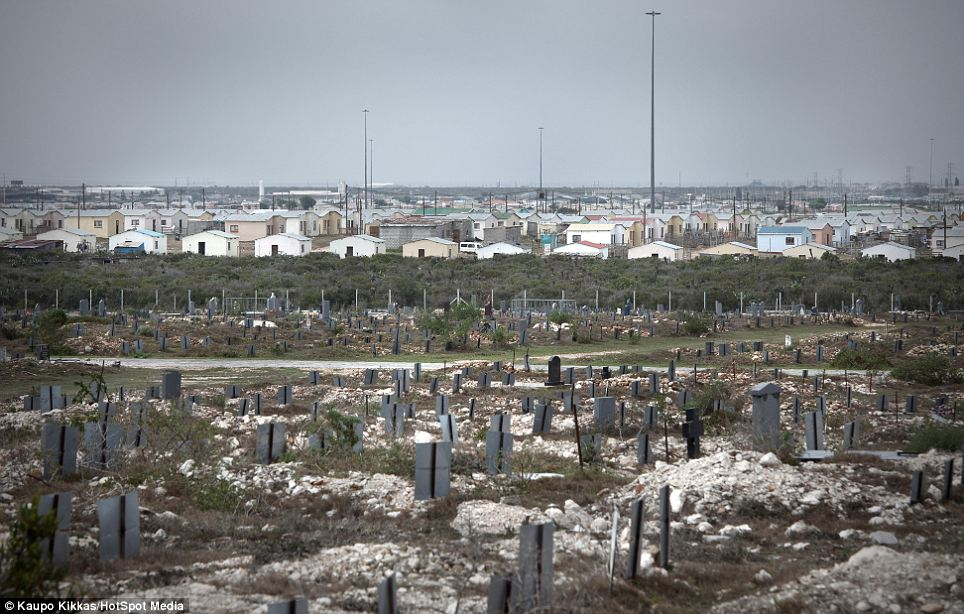Special location: A township graveyard in Cape Town, South Africa. The photographer says sometimes it can be the placing of the graveyard or some strange tradition that makes it special