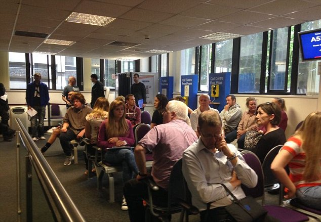 Queues are already building at Durham Passport Office at 11am on Friday morning, June 13 2014. The government has announced extra measures to tackle a backlog of passport applications reported to be in the region of hundreds of thousands.