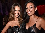 Partners in crime: Jessica Alba shared a snap with Rosario Dawson at the Sin City: A Dame To Kill For afterparty in Los Angeles on Tuesday