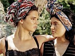Au naturel: Kendall and Kylie Jenner are fresh-faced beauties in their new country-inspired magazine shoot