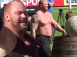 'I am king of the stones!' Game Of Thrones muscleman Hafthor Bjornsson gets carried away after winning Europe's Strongest Man