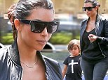 My date with Auntie Kim! Mrs West takes nephew Mason Disick to a matinee movie not far from her new posh digs in Hidden Hills