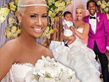(Not) just married! Amber Rose FINALLY shares pictures of wedding to Wiz Khalifa on one year anniversary of nuptials