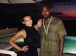 Happy couple: Kim Kardashian gave a peak into her Mexican getaway with Kanye West as she Instagrammed a snap from their dinner date at sunset on Monday, captioned '#MexicoNightsWithMySexyMan'