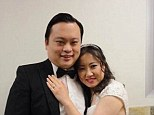 Happily wed: American Idol reject William Hung got married in California on June 17