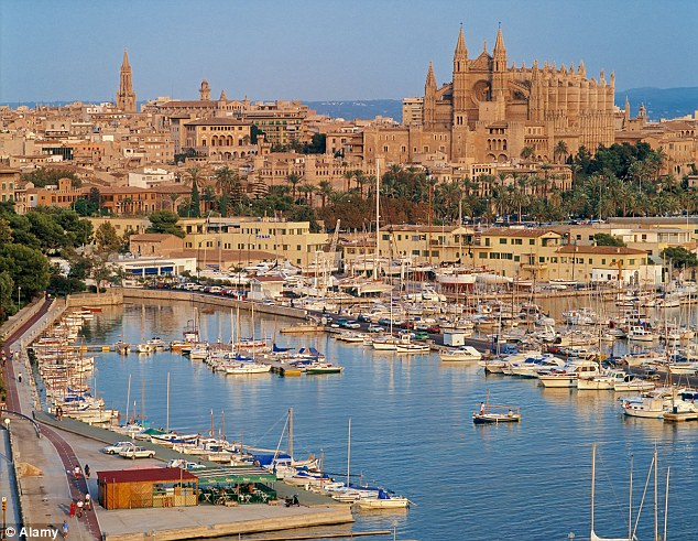 Popular: A fifth of Which? members who hired a car on holiday did so in Spain (Pictured: Palma de Mallorca)