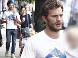 Picture Shows: Jamie Dornan, Amelia Warner  August 20, 2014    Northern Irish actor Jamie Dornan, who plays Christian Grey in the highly anticipated film 'Fifty Shades Of Grey', is seen in Queens Park with his wife, Amelia Warner and their young daughter.    'Fifty Shades Of Grey', which is based on the successful trilogy of erotic novels, is due to be released next February.    Non Exclusive  WORLDWIDE RIGHTS    Pictures by : FameFlynet UK    2014  Tel : +44 (0)20 3551 5049  Email : info@fameflynet.uk.com