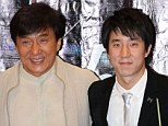 Shocked: Jackie Chan has revealed he feels 'ashamed' of his son Jaycee (pictured right with the action star in 2005) following his drug arrest