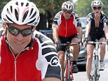 Still rolling together! Dennis Quaid and his on/off wife Kimberly enjoy a romantic bike ride in Brentwood