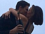 Engaged! Flash star Robbie Amell shares news of proposal to girlfriend of SIX years Italia Ricci with romantic kissing photo