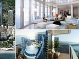 Luxury: The infinity pool with a slide attached at the penthouse flat in Monaco's Tour Odéon