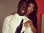 Lovely sparkler: Kevin Hart's new fiancee Eniko Parrish showing off her engagement ring after he announced their happy news on Instagram on Monday
