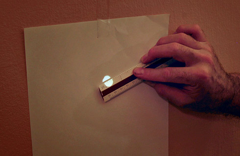 Measuring Pinhole with Slide Projector