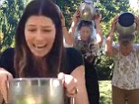 'Three generations style!' Jessica Biel gets soaked as she takes the ALS ice bucket challenge with her family