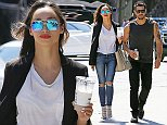 20.AUGUST.2014 - WEST HOLLYWOOD - USA ACTRESS CARA SANTANA AND ACTOR BOYFRIEND JESSE METCALFE SEEN LEAVING MELROSE PLACE IN WHAT HE PLAYFULLY CALLED HIS JASON THEROUX SHIRT BYLINE MUST READ : XPOSUREPHOTOS.COM ***UK CLIENTS - PICTURES CONTAINING CHILDREN PLEASE PIXELATE FACE PRIOR TO PUBLICATION *** **UK CLIENTS MUST CALL PRIOR TO TV OR ONLINE USAGE PLEASE TELEPHONE  44 208 344 2007 ***