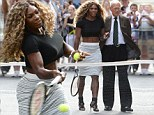 Serena Williams sports high heels and crop top for game against David Letterman before Late Show chat