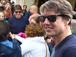 He's no phantom at the opera house! Tom Cruise is mobbed by fans as he arrives in Vienna to film Mission Impossible 5