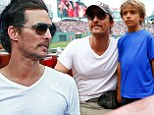 'I'm not afraid of the fanny pack': Matthew McConaughey tries to bring much maligned accessory back into fashion at ball game