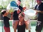 Making a splash: Victoria Beckham accepted the ALS ice bucket challenge