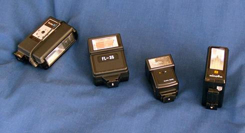 Vintage Flash Unit Lineup