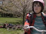 Emmy nominee Lena Dunham wipes out on a bicycle in the sneak peek of HBO's Girls season 4