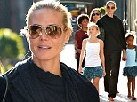 Family ties: Heidi Klum is joined by mother Ema joins daughter and grandchildren Henry, Lou and Leni in New York