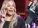 Belting it out: LeAnn Rimes was seen singing on stage at The Fair At The PNA at the PNE Ampitheatre in Vancouver, Canada on Thursday