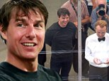 Evergreen Tom Cruise, 52, looks amazingly youthful as he shares a laugh on Mission: Impossible 5 set with co-star Simon Pegg