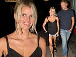 They've still got that newlywed glow! Jessica Simpson flashes some serious leg in Daisy Dukes following romantic dinner date with Eric Johnson