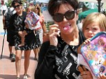 It was a family trip to the affluent neighbourhood in San Diego as Kris was also joined by Kim with daughter North and Kourtney with Penelope's older brother Mason.