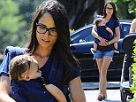 August 21, 2014: Jordana Brewster and son Julian Form-Brewster take a stroll in Los Angeles, CA. Mandatory Credit: INFphoto.com Ref.: infusla-295|sp|