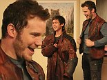 He's a real superhero! Chris Pratt visits Children's Hospital Of Los Angeles dressed as Guardians Of The Galaxy character Star-Lord