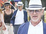 Bon voyage! Steven Spielberg is sprightly and stylish on fancy French holiday with wife Kate Capshaw