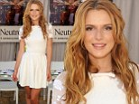 She's got class! Bella Thorne keeps it chic in pale mini dress at Teen Vogue Back To School event