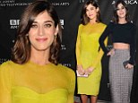 Already a pro! Best Actress nominee Lizzy Caplan shows off red carpet style in two bold looks at pre-Emmy parties