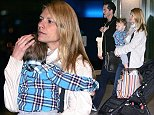 Mandatory Credit: Photo by Tania Coetzee/REX (4081112f)  Claire Danes, Hugh Dancy and son Cyrus  Claire Danes and Huch Dancy at Cape Town airport, South Africa - 22 Aug 2014