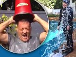 They got wet too! Chelsea Handler does ALS Ice Bucket Challenge in wet suit... while Tom Hanks wears a T-shirt