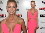 Dropping Jaws! Tara Reid turns every head in plunging crop top and slit skirt at Sharknado 2: The Second One screening