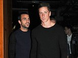 Mandatory Credit: Photo by Rotello/Photofab/REX (4080515d)  Cesc Fabregas and Fernando Torres  Chelsea players out and about, London, Britain - 20 Aug 2014  Cesc Fabregas, Fernando Torres and Didier Drogba on a night out at the the Zuma restaurant