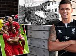 LIVERPOOL, ENGLAND - JULY 26: (THE SUN OUT, THE SUN ON SUNDAY OUT)  (EXCLUSIVE COVERAGE) (PREMIUM PRICING APPLIES) (MINIMUM PRINT/BROADCAST FEE OF GBP 150, ONLINE FEE OF GBP 75 PER IMAGE, OR LOCAL EQUIVALENT) Dejan Lovren poses as he is unveiled as a new signing for Liverpool Football Club at Melwood Training Ground on July 26, 2014 in Liverpool, England. (Photo by Nick Taylor/Liverpool FC via Getty Images)