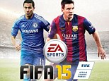New look: Hazard and Messi are the cover stars for EA Sports' latest FIFA video game