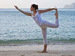 Poser: Sales of yoga apparel shot up 45per cent in 2013, but participation in the sport only grew 4.5per cent in the same period