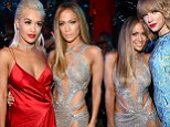 Everyone wants a piece of her 'Booty'! Jennifer Lopez mingles with Taylor Swift and Rita Ora