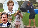 Katie Price completes ALS ice bucket challenge in tiny shorts... and nominates Prince Harry and David Cameron to go next