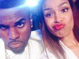 Proud partner: Jordin Sparks shared a funny photo of herself and boyfriend Jason Derulo at the MTV Video Music Awards on Sunday in Inglewood, California